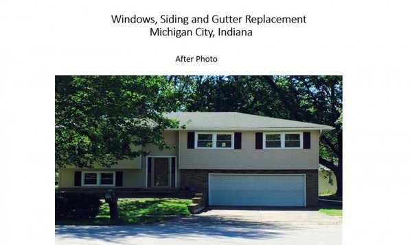 After Windows, Siding and Gutters Michigan City, IN