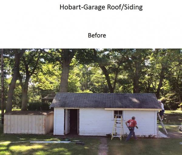 Before & After Garage Roof/Siding Hobart, IN