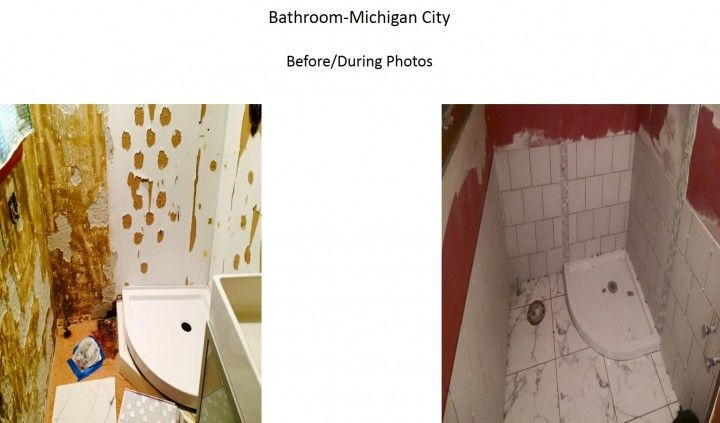 Before & After Bathroom Remodel Michigan City, IN