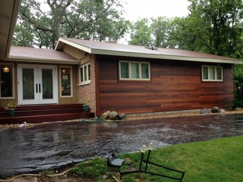 Before and After Siding and Deck Remodeling in Ogden Dunes, IN
