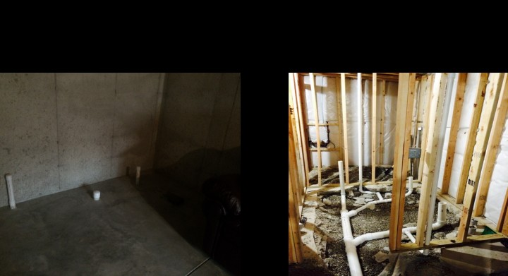 Before & After Crown Point Basement Bathroom
