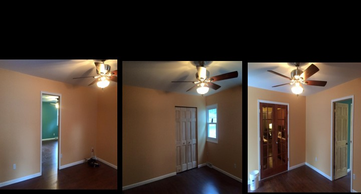 Before & After Living room/bedroom remodel Hobart, IN