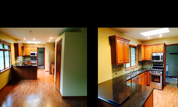 Before & After Kitchen Remodel Valparaiso, IN