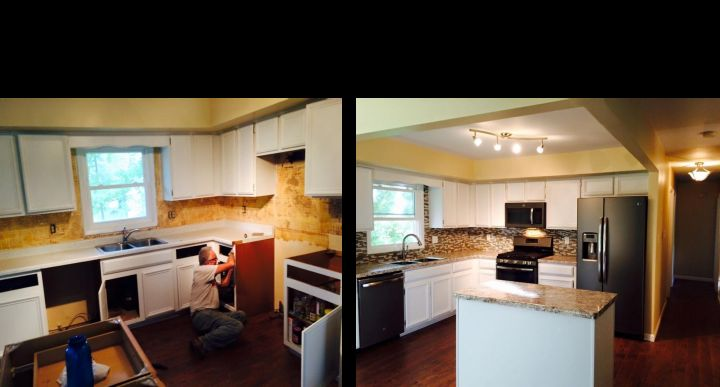Before & After Kitchen Remodel Michigan, IN