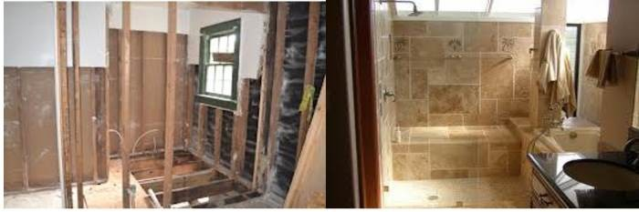 Before and After Bathroom Remodeling