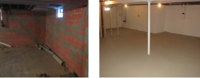 Before and After Basement Finishing
