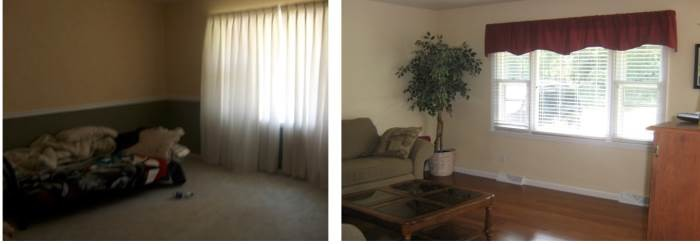Before and After Interior Painting and Flooring